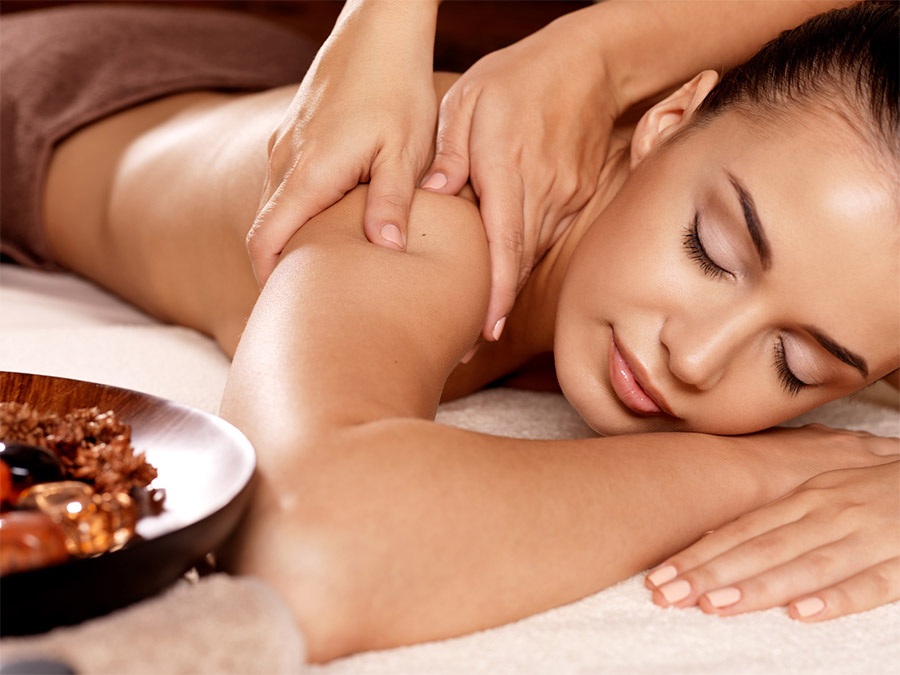 Woman Having a Relaxing Massage